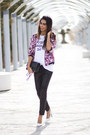 Hot-pink-sommes-démode-jacket-white-sheinside-t-shirt-black-zara-pants