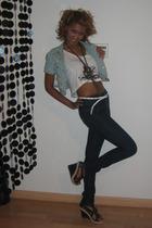 BLANCO t-shirt - Bershka jacket - Stradivarius jeans - BLANCO shoes