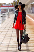 black BLANCO jacket - red Primark dress
