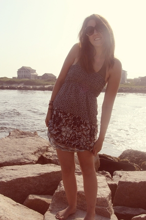 Old Navy swimwear - H&M sunglasses - f21 dress