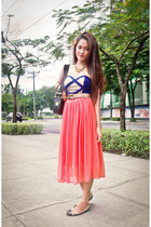 salmon midi skirt unbranded skirt - navy Love Humbly Shop dress