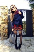 Bershka blouse - bers boots - Zara skirt