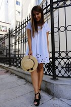 veromoda dress - Oysho hat - Zara heels