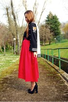 vintage skirt - Bershka shoes - Lefties cardigan