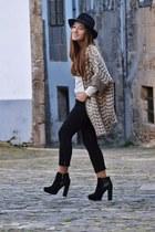 Zara cape - Primark boots - Zara hat