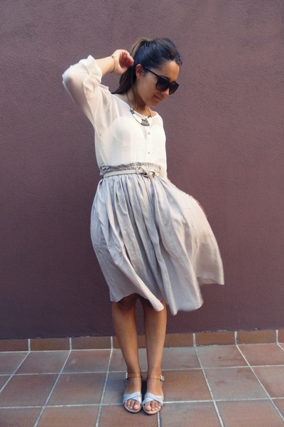 Zara skirt - BLANCO blouse
