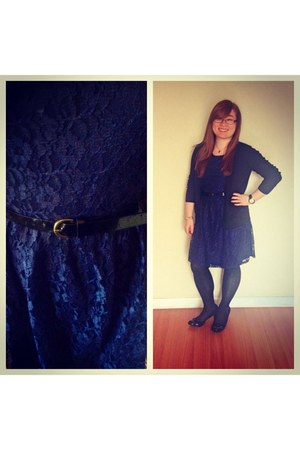 blue lace Forever 21 dress