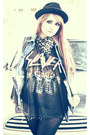 Vintage-hat-slayer-tee-thirfted-shirt-opaque-walgreens-tights