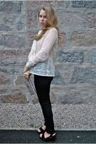 beige Paul and Joe blouse - black Nudie Jeans jeans - black ASH shoes - purple A