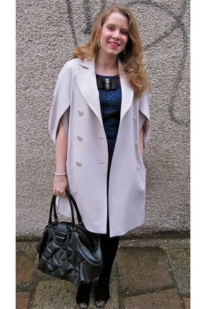white Betty Jackson coat - vintage from Ebay dress - Robert Clergerie boots - Sm