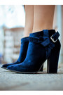 Tan-no-brand-scarf-navy-thakoon-boots-navy-vintage-dress