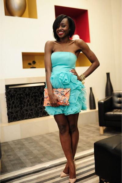 BCBG bracelet - Christian Louboutin shoes - BCBGeneration dress - BCBG bag