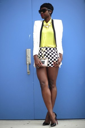 Forever 21 shirt - BCBGeneration blazer - Zara shorts - Macys necklace