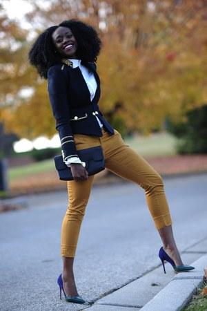 Zara blazer - H&M shirt - H&M pants - Jean Michel Cazabat heels