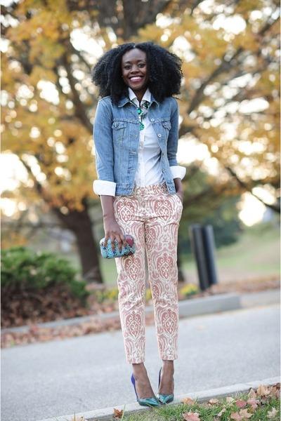 Levis jacket - Jean-Michel Cazabat shoes - Loft pants - H&M blouse