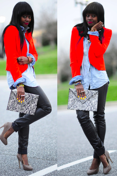 Aldo shoes - Zara blazer - BCBG pants