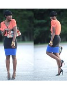 Sheinside shirt - Aldo bag - BCBG skirt - Christian Louboutin heels