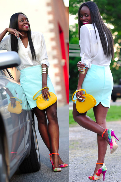 Aldo shoes - hm shirt - H&M skirt