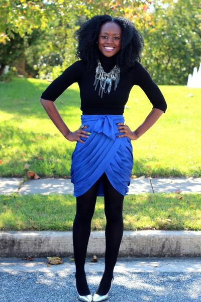 BCBG skirt - Forever 21 top - BCBG necklace - Zara heels