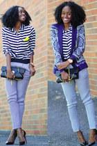 Zara blazer - Christian Louboutin shoes - Motel Rocks shirt - Zara pants