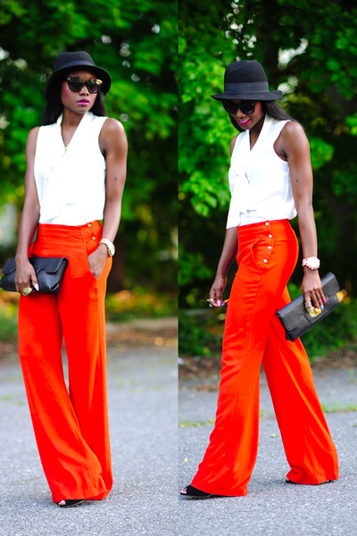 sam edelman shoes - H&amp;M hat - Zara pants - Forever 21 top