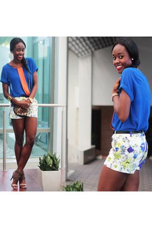 Zara shorts - Sugar Lips shirt - BCBG sandals