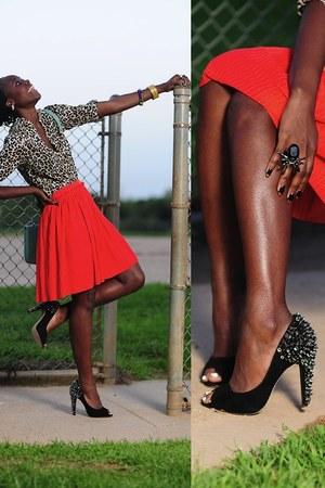 studded pumps sam edelman heels - leopard print hm shirt