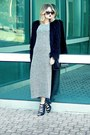 Heather-gray-maxi-olive-oak-dress-black-faux-fur-urban-outfitters-coat