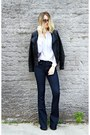 Navy-flare-articles-of-society-jeans-black-faux-leather-thrifted-jacket