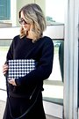 Black-silence-noise-sweater-black-michael-kors-bag