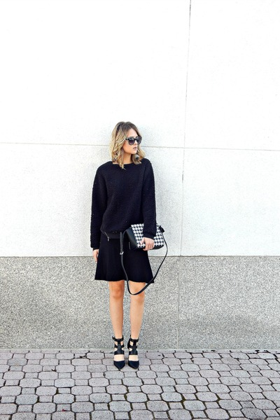 black Silence & Noise sweater - black Michael Kors bag