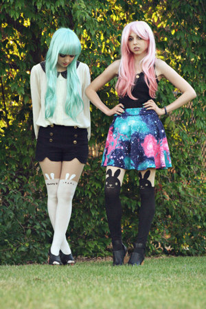 synthetic wig hair accessory - tights stockings