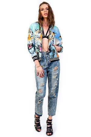 Slimskii jeans - Slimskii jacket - Slimskii top - Slimskii hair accessory
