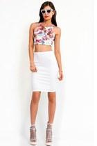 Slimskii sunglasses - ivory Slimskii skirt - white Slimskii top