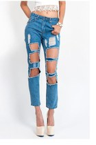Triple Threat Cutout Boyfriend Jeans