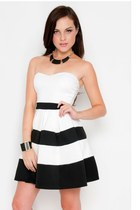 Le Belle Colorblock Strapless Dress