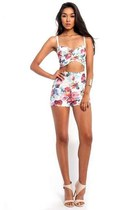 Garden Floral Sweetheart Two Piece Set