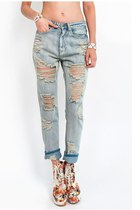 Love Me to Shreds Boyfriend Jeans