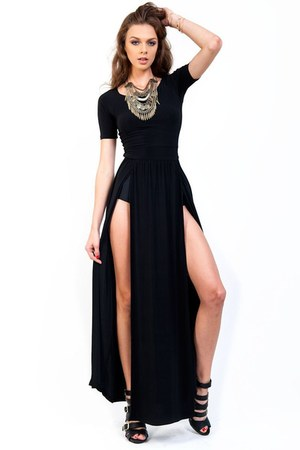 black Slimskii dress - Slimskii necklace