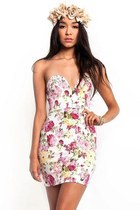 English Rose Sweetheart Bodycon Dress