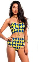 Harlequin Bustier Shorts Two Piece Set