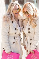 beige trench Love Culture coat - beige cut out GoJane dress