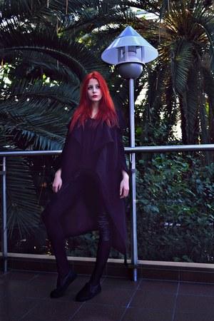 black second hand coat - black New Yorker leggings