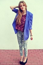 purple SH jacket - aquamarine no name pants - magenta SH top