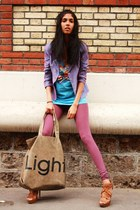 thrifted jacket - DIM tights - Zara heels