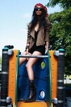 Patrizia Pepe boots - suede Virginie Castaway jacket - suede Zara shorts - lace