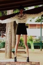 suede Zara shorts - asos shoes - silk Abraham Will shirt