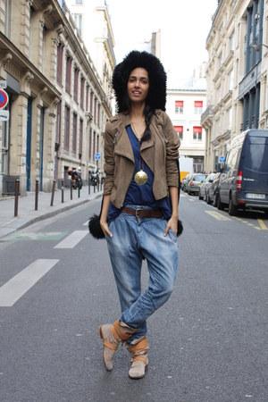 suede Virginie Castaway jacket - vivienne westwood boots