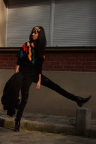 Fratelli Rossetti boots - Zara coat - Patrizia Pepe jeans - thrifted vintage swe