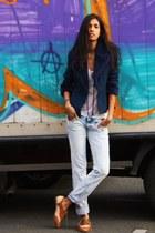 Aldo shoes - Zara jeans - thrifted jacket - The Kooples t-shirt